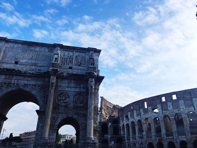 Rome View Rome Italy Architecture Eternal City Arch Colosseum Story