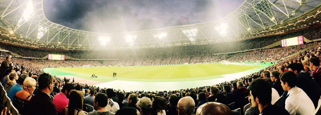 West Ham Large Group Of People Men Person Crowd Lifestyles Spectator Watching Stadium Leisure Activity Event Football London London Stadium West Ham Utd