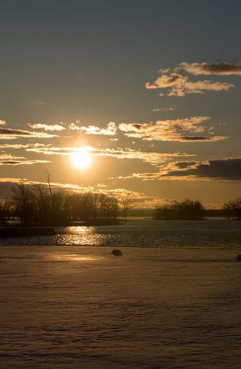 Canada Coast To Coast Idyllic Idyllic Scenery Sunset Sun Sky Scenics - Nature Water Cloud - Sky Beauty In Nature Tranquility Tranquil Scene Nature Sunlight No People Outdoors Sea Waterfront Land Orange Color Non-urban Scene