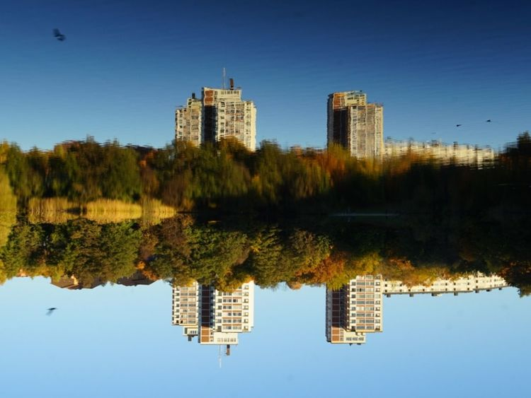 Upside Down Mirror Lake Lost In The Landscape The Graphic City Mobility In Mega Cities