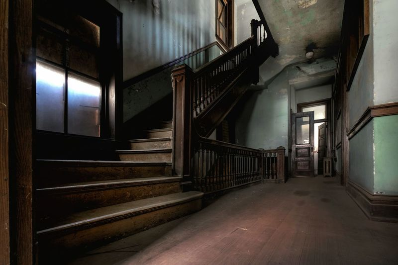 Stairway of abandoned house