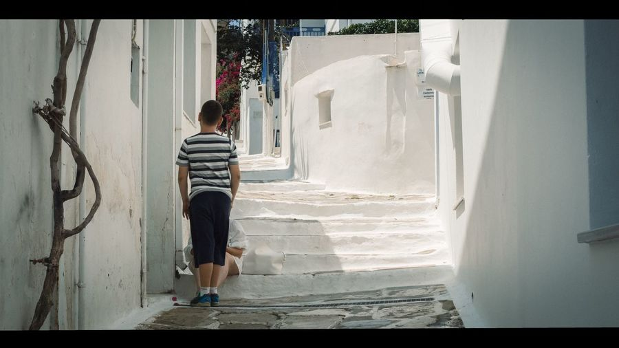 Street Streetphoto_color No Face Travel Photography GREECE ♥♥ Cinematic Photography Full Length One Person Real People Rear View Standing Outdoors #urbanana: The Urban Playground