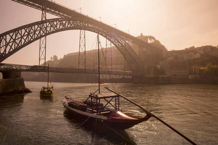 Architecture Boat Bridge - Man Made Structure Built Structure Capital Cities  City Day Engineering Mode Of Transport Nature Nautical Vessel No People Outdoors Rippled River Sailing Sky Sunset Tourism Transportation Travel Destinations Water