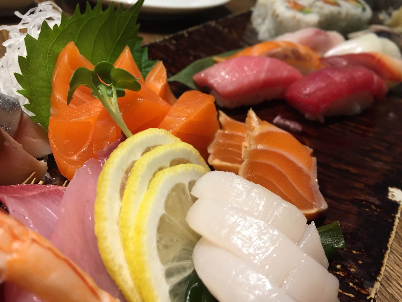 food and drink, food, freshness, sushi, still life, japanese food, slice, healthy eating, salmon, seafood, indoors, sashimi, ready-to-eat, serving size, plate, close-up, no people, day