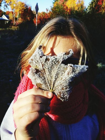 Fall Frost Leaf Colorful Nature Love