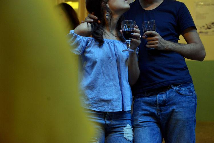43 Golden Moments Blur Couple Digital Photography EyeEm Team Georgia Leisure Activity Selective Focus Tamar Mirianashvili Tbilisi Week On Eyeem Wine Wine Glass Wine Tasting Yellow
