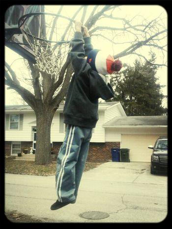 Slam dunk with my munchkin!!!