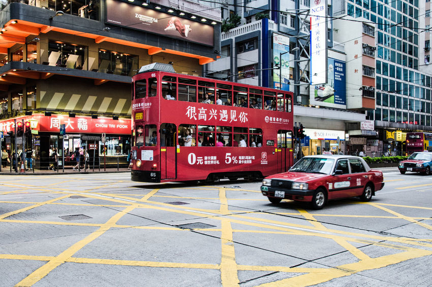 #Hong Kong #hongkong #street #taxi #tram #transport #travel #traveling #travelphotography The Week On EyeEm Architecture Building Exterior City Day Land Vehicle Mode Of Transport No People Outdoors Transportation