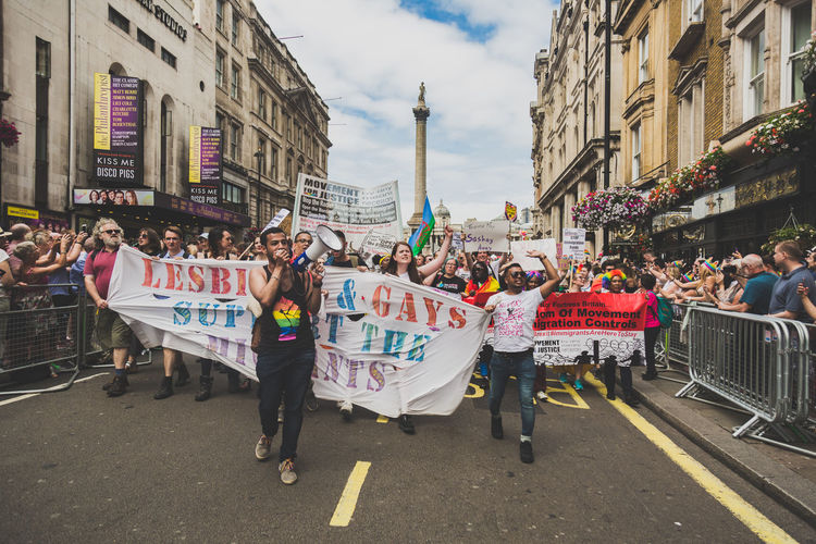 LGBT Pride Parade in London, UK. 2017 LGBT Parade LGBTQ Rights London Press For Progress Protest Sunny Architecture Building Exterior Day Equality Flag Flags Gay Journalism Large Group Of People Lgbt Lgbt Pride March People Pride Pride2017 Prideparade Protesters Protestor Rainbow Stories From The City The Troublemakers