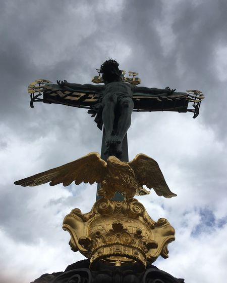 Catarsis Spiritual Heaven Cross Redentor Christianism Statue Low Angle View Cloud - Sky Sculpture Sky Art And Craft Spirituality