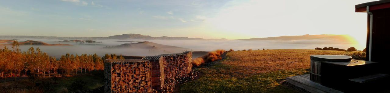 Low Fog Over Fields Outdoors Farmland Life Work Rural New Zealand No People Nature Sunrise_Collection