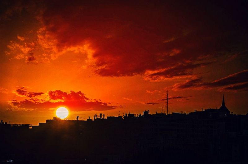 El infierno #madrid #callejeando Sunset Dramatic Sky Silhouette Landscape Sky No People Nature Scenics