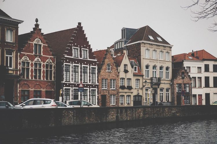 Architecture Building Exterior Built Structure City Canal Transportation Mode Of Transport No People Waterfront Water Sky Nautical Vessel Day Townhouse