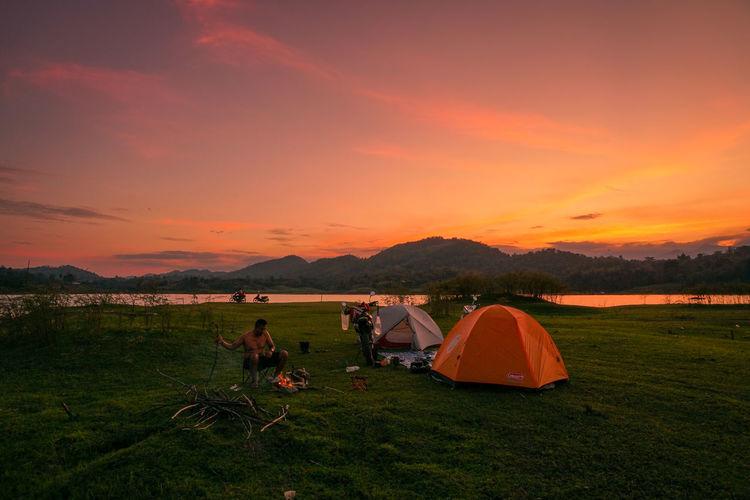 Tent Sky Sunset