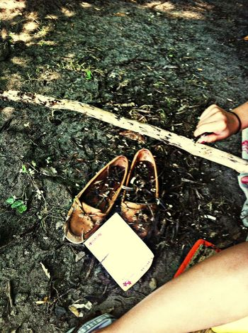 gettin your shoes dirty