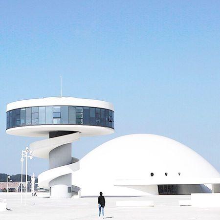 Architecture Built Structure Futuristic Mobile Conversations Building Exterior Minimalism Landscape Girl Urbanismo Arquitectura Asturias