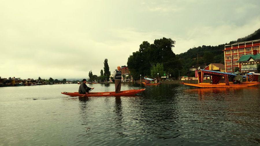 Boating dal lake Dal Lake Kashmir , India Shikara