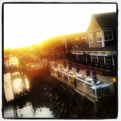 Dinner Steveston Dockside Evening sunset