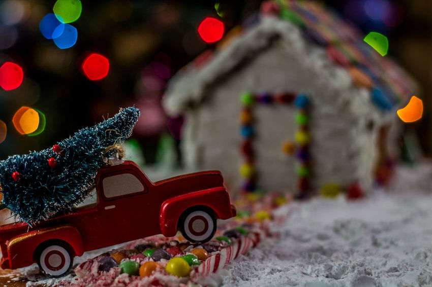 Christmas tree for the Gingerbread house Holiday Food Gingerbread House Red Truck Gingerbread Winter Snow Truck Background EyeEm Selects Food Bokeh Candycane  Candy Cane Candy Treat Christmas Tree Gingerbreadhouse Christmas Bokeh Holidays Car Christmas Red Defocused Christmas Decoration No People Outdoors