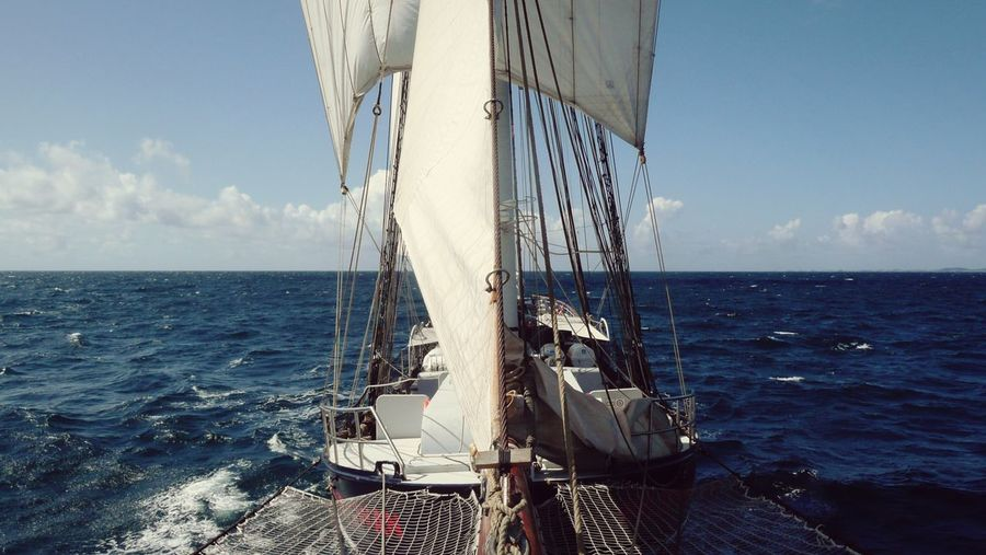 Conquering  the Northsea on the Tall Ship Wylde Swan! Sea Horizon Over Water Water Sky Outdoors No People My Year My View Rope Clouds Finding New Frontiers EyeEmNewHere