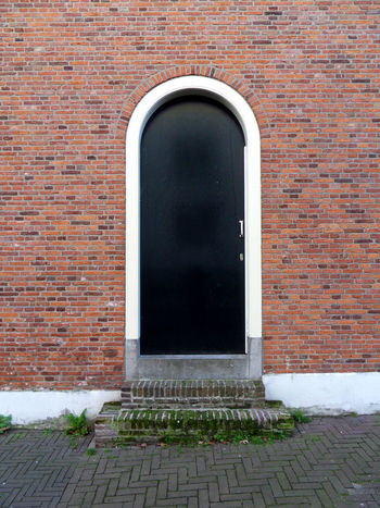 Brick Architecture Brick Wall Built Structure Wall Building Exterior Door No People Entrance Hofje Van Nieuwkoop City Façade Building Arch EyeEmNewHere The Hague, The Netherlands