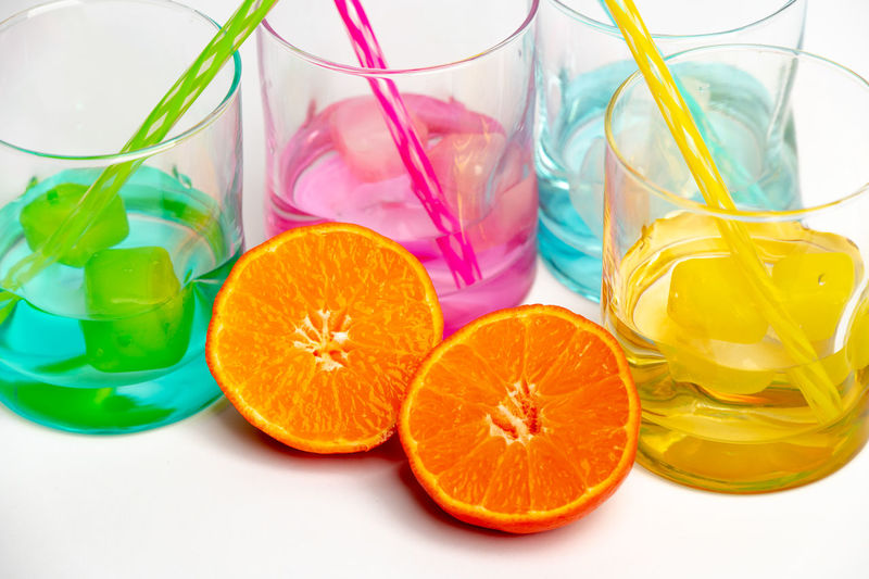 rainbow colors coole drinks Rainbow Colors Colorful Cool Cold Refreshment Summer Food Summertime Drinks Water Freshness