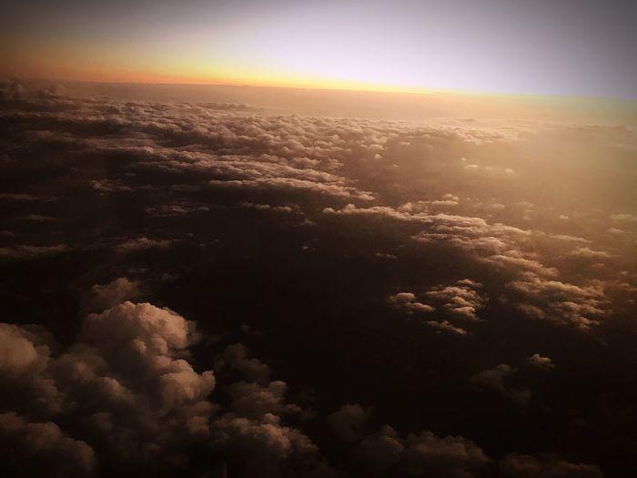 Bulutların üzerinden.. Türkiye Kuşbakışı Sky Beauty In Nature Aerial View Scenics - Nature Nature Environment Tranquil Scene Tranquility Idyllic Sunset Cloud - Sky No People Cloudscape Landscape Outdoors Air Vehicle Sunlight Atmosphere Airplane Above 17.62° My Best Photo