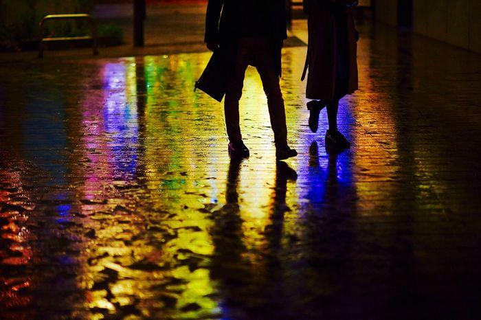 Nightphotography Silhouette Light And Shadow EyeEm Best Shots Reflected Glory The Street Photographer - 2015 EyeEm Awards