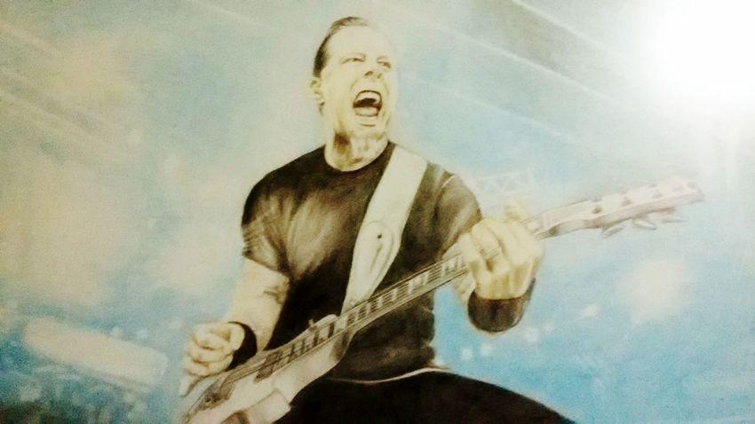 JAMES HETFIELD \m/ James Hetfield Metallica Drawing Painting Metal Metalhead