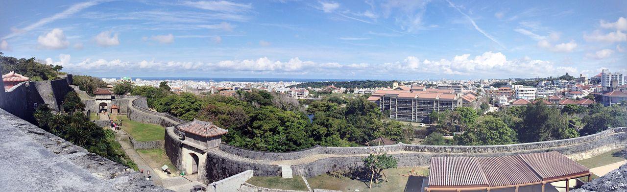 首里城から西を望む Panorama Naha Shuri Castle Okinawa Sea And Sky Castle