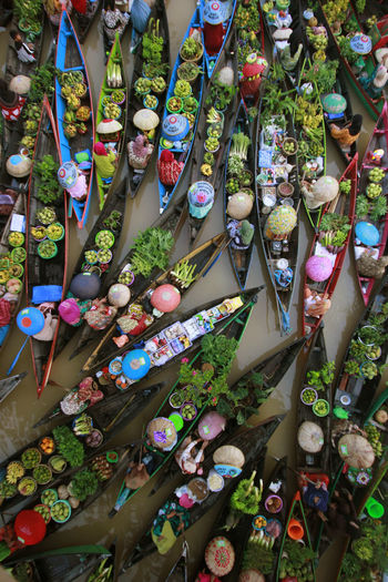 floating market in south Kalimantan EyeEmNewHere Floating Market Market Colors Choice Retail  Large Group Of Objects Variation For Sale Abundance Multi Colored High Angle View Collection Day Arrangement No People Market Stall Retail Display Sale Small Business Outdoors Business Plant Street Market Consumerism