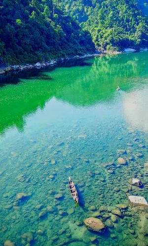 My Year My View Water High Angle View Reflection Nature Outdoors River Tranquility Beauty In Nature Day Floating On Water Underwater One Person Nautical Vessel Tree Clean Water Green Green Green!  Green Color Nature EyeEm Best Shots EyeEm Nature Lover Open Edit