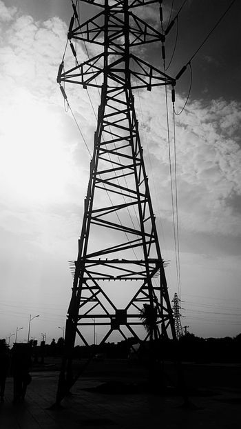 Blackandwhite Sky And Clouds Cloud - Sky Power Supply Electricity Pylon Electricity