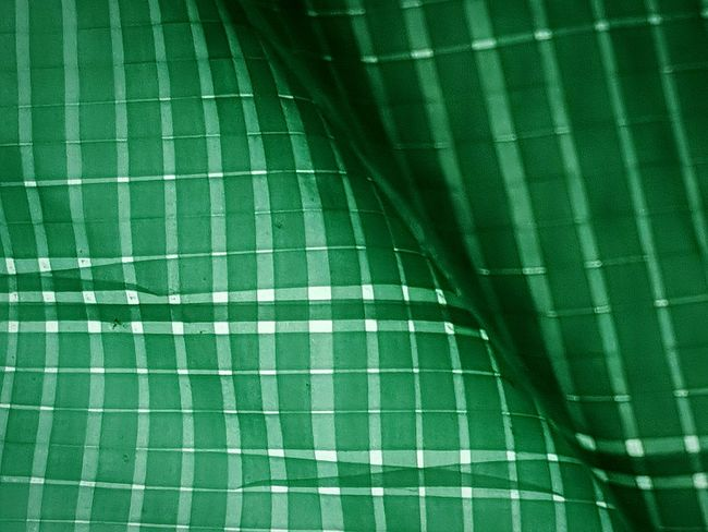Checkered... Green Tarpaulin Synthetic Industrial Textile Man Made Material Lines Pattern Texture Colour Of Life Lines, Shapes And Curves Sunlight Background Wallpaper Full Frame Darkness And Light Neon Life End Plastic Pollution