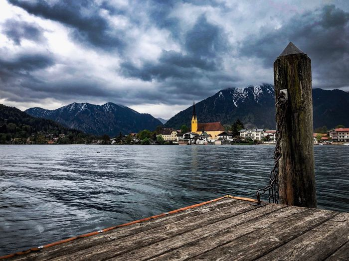 Rottach-Egern am Tegernsee. Lake View EyeEm Best Shots Water Cloud - Sky Sky Nature Architecture Mountain Lake Beauty In Nature Day Scenics - Nature Outdoors
