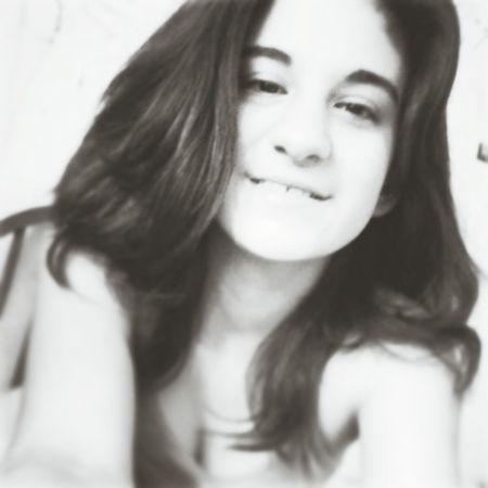 Girl Cute Black & White Smile