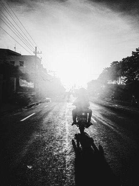 Creative Light And Shadow Against The Sun