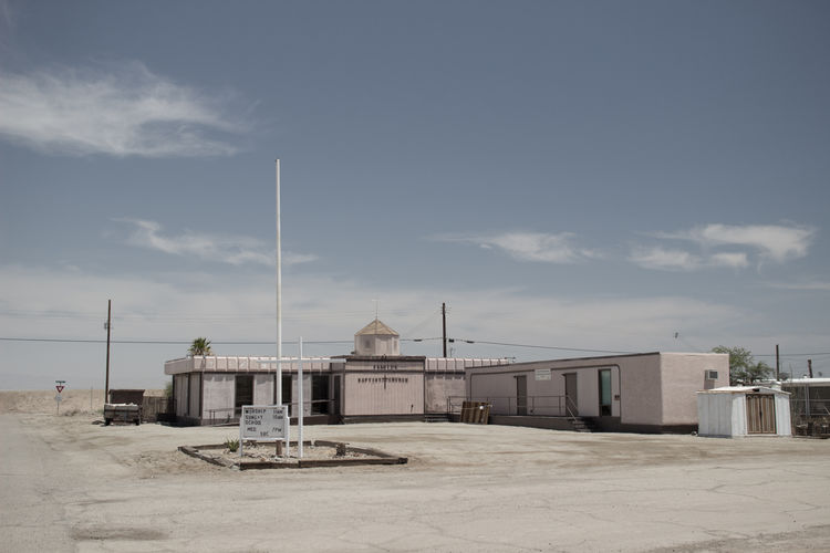 Architecture Bombay Beach California Church Cloud - Sky Empty No People Pole Religious Architecture Salton Sea Sky Sunny Day