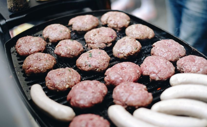 Processing meat... Burgers Last Burger, I Promise Meat! Meat! Meat! BBQ Time BBQ Food And Drink Meat Selective Focus Preparation  Fried Food Ready-to-eat Eating Minced Freshness