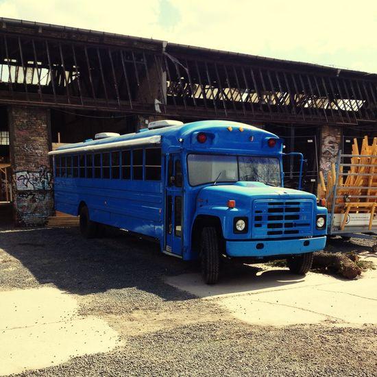 Neueheimat Berlin Bus Blue Blau Fhain Friedrichshain