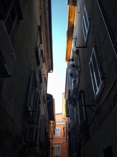 Streets of Pirano Building Exterior Architecture Built Structure No People Day Sky Piran Slovenia Window Wall
