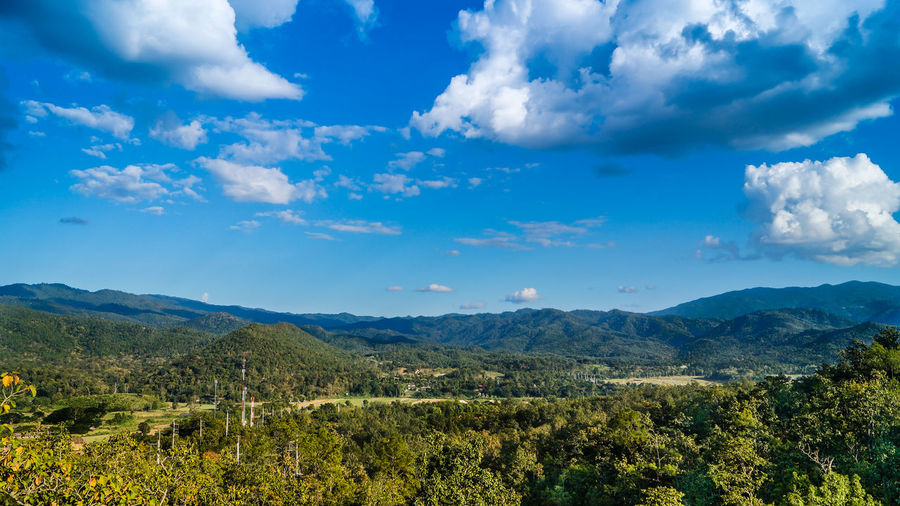 thailand, mae hong son valley, november 2015 Beauty In Nature Human Meets Technology Cellular Tower Cloud Cloud - Sky Cloudporn Cloudy Countryside Green Color Growth Horizon Over Land Idyllic Landscape Mountain Mountain Range Nature The Great Outdoors - 2016 EyeEm Awards Non-urban Scene Outdoors Remote Scenics Sky Telephone Pole Tranquil Scene Tranquility