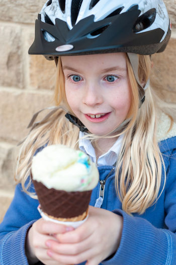 Portrait of girl with ice cream