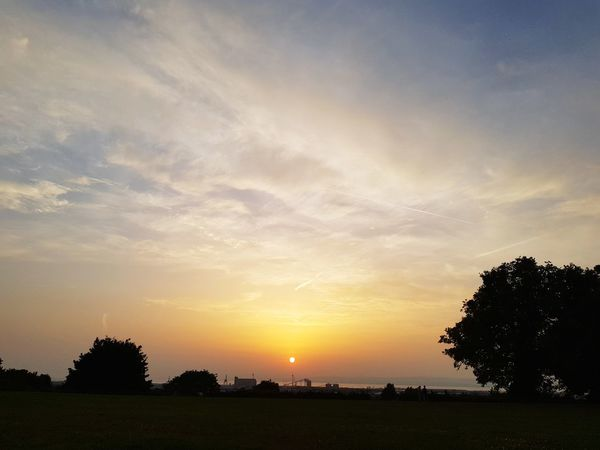Sunset Field No People Landscape Nature Outdoors Beauty In Nature Day