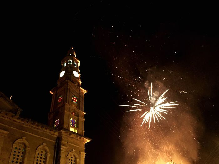 Easter in Greece Greek Traditions Fireworks Night Nightphotography Easter Greek Orthodox Easter Greek Orthodox Church Church Night Celebration Illuminated Event Firework Firework Display Motion Building Exterior Travel Destinations Tower Sky No People Low Angle View
