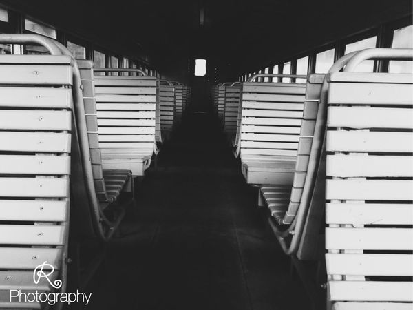 EyeEmNewHere train thoughts In A Row Indoors  Seat Vehicle Seat Day No People Train Station Train - Vehicle Train Ride Vintage Old Train Station Old Train Mides El Salvador El Salvador Impresionante