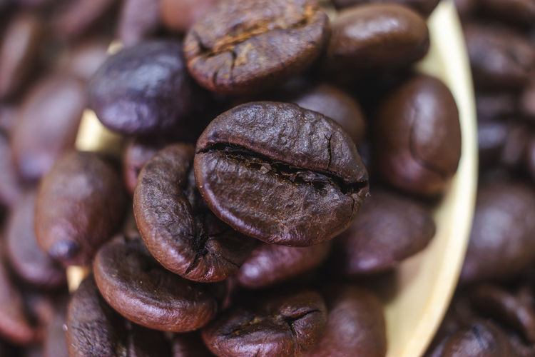 Food And Drink Still Life Brown Food Freshness Coffee Roasted Coffee Bean Coffee - Drink Large Group Of Objects No People Indoors  Close-up Coffee Bean Full Frame