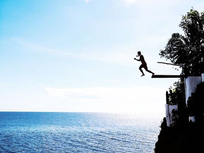Jump today or regret tomorrow Taken in Boracay, Philippines Botaboracay Killeverygram Whpmyoasis