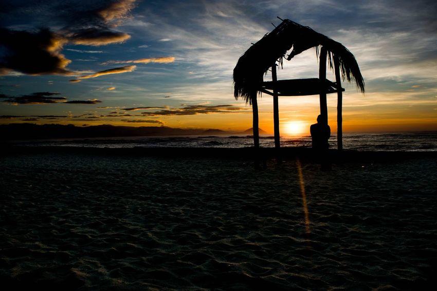 Sommergefühle Chacahua Sky Water Nature Cloud - Sky Tranquility Horizon Over Water Sand Oceano Sunrise Sea Beach Sun