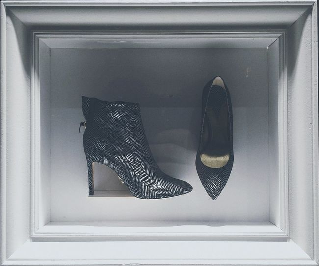Cropped Must Have Shoes Stylish Shoes Softtones Shopwindow Frame Shoes Leather Framed Shoesporn Leather Shoes Frame It! Shoesaddict Stilletto Heels High Heels Black Shoes White Frame Full Edit Fresh 1 Filter Cutting Photo Shadow And Light Indoors  No People Close-up